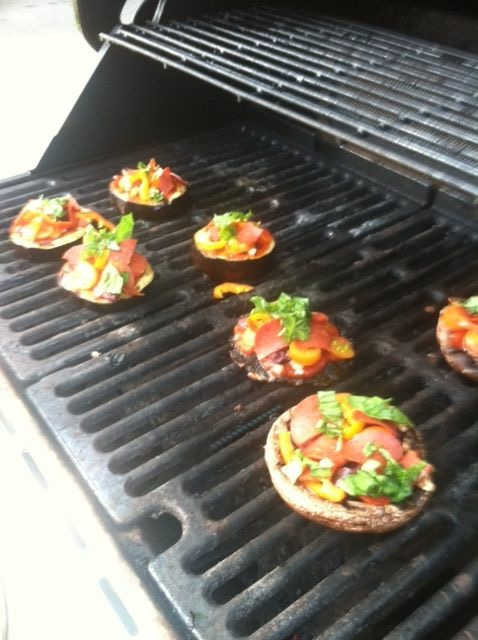 portabella on the grill